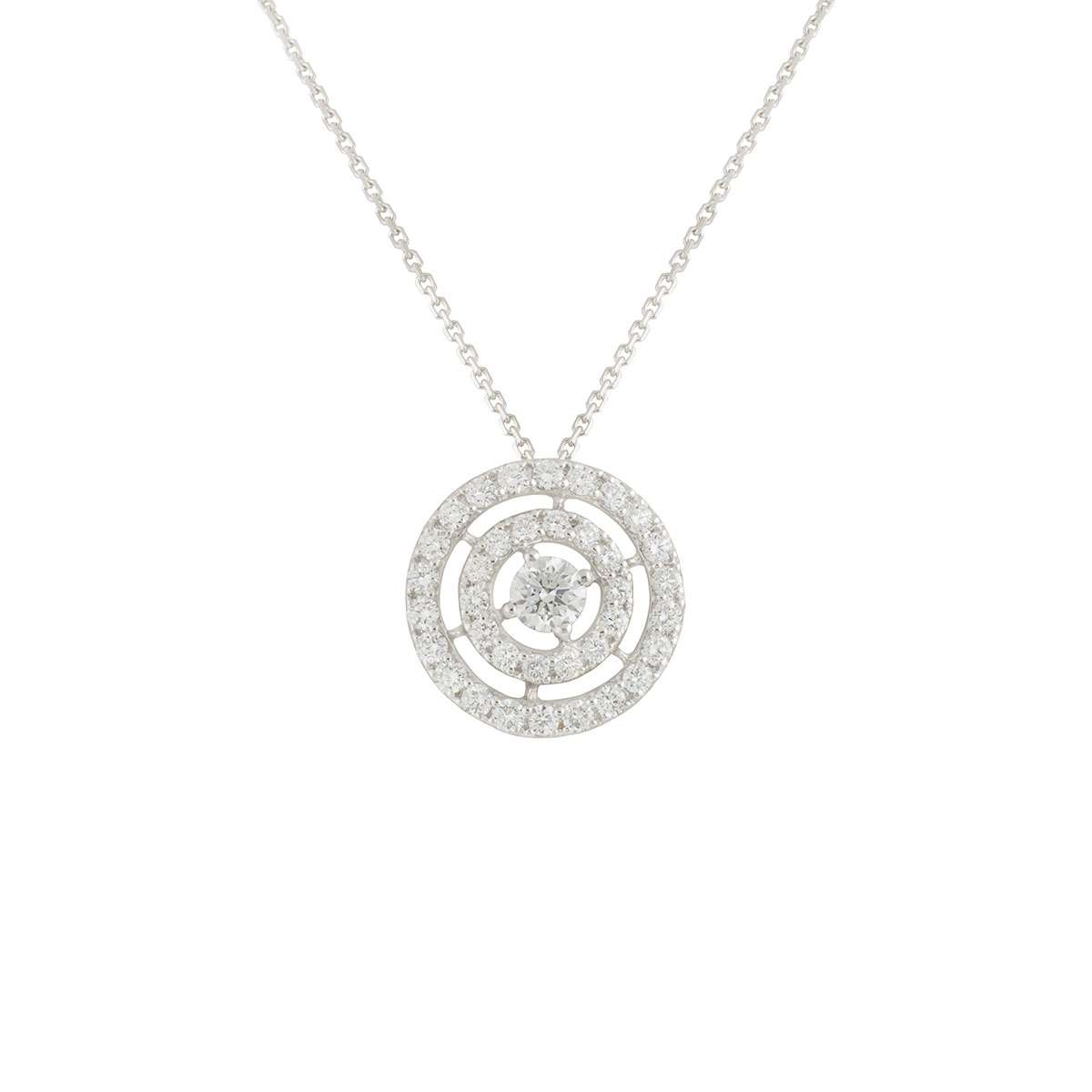 White Gold Diamond Double Halo Pendant